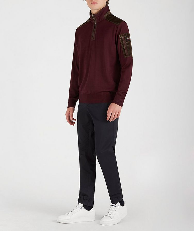 Half-Zip Wool-Blend Sweater image 4
