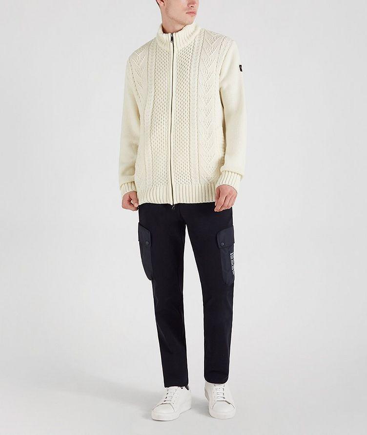 Zip-Up Wool-Blend Sweater image 1