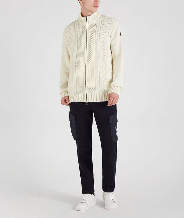 Zip-Up Wool-Blend Sweater picture 2