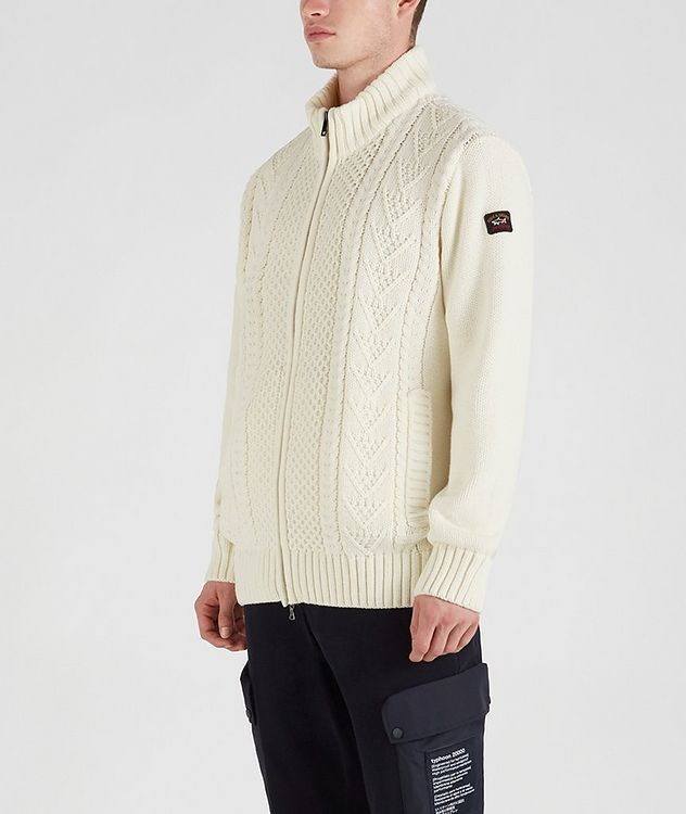 Zip-Up Wool-Blend Sweater picture 3