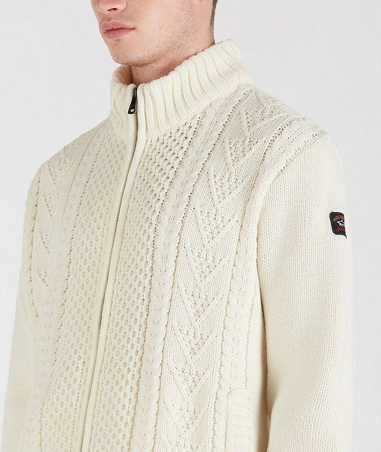 Zip-Up Wool-Blend Sweater image 3