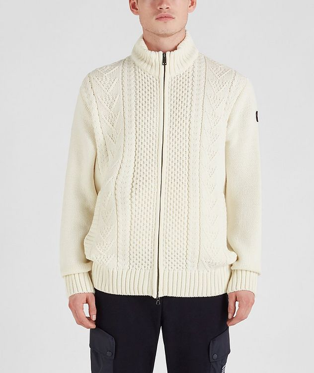 Zip-Up Wool-Blend Sweater picture 1