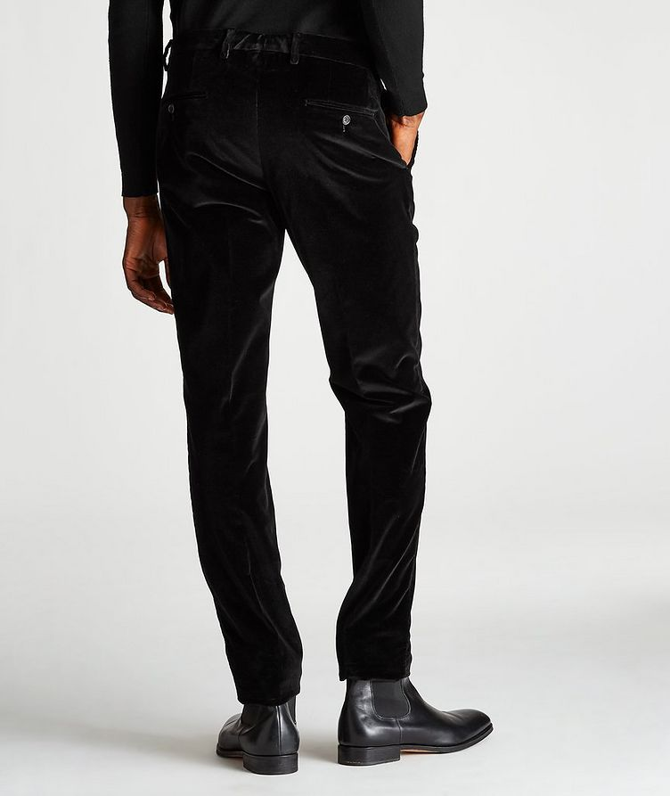 Slim-Fit Velvet Trousers image 1