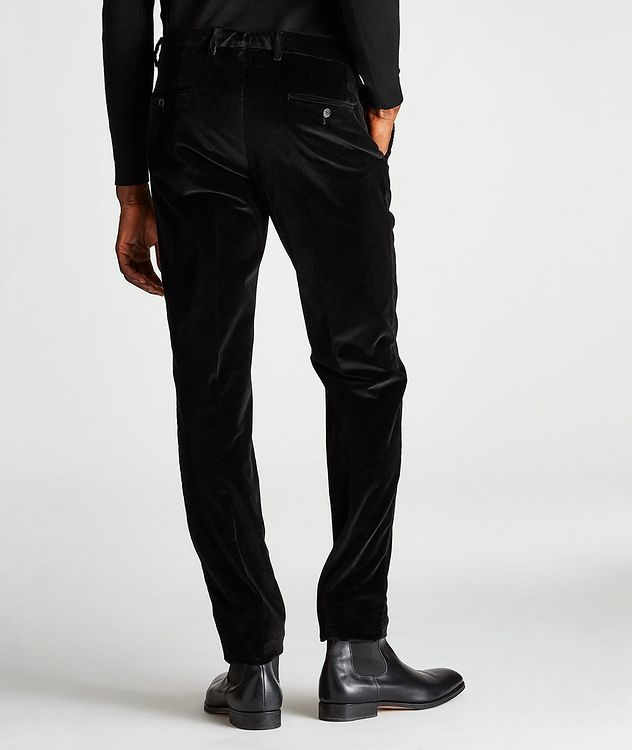 Slim-Fit Velvet Trousers picture 2