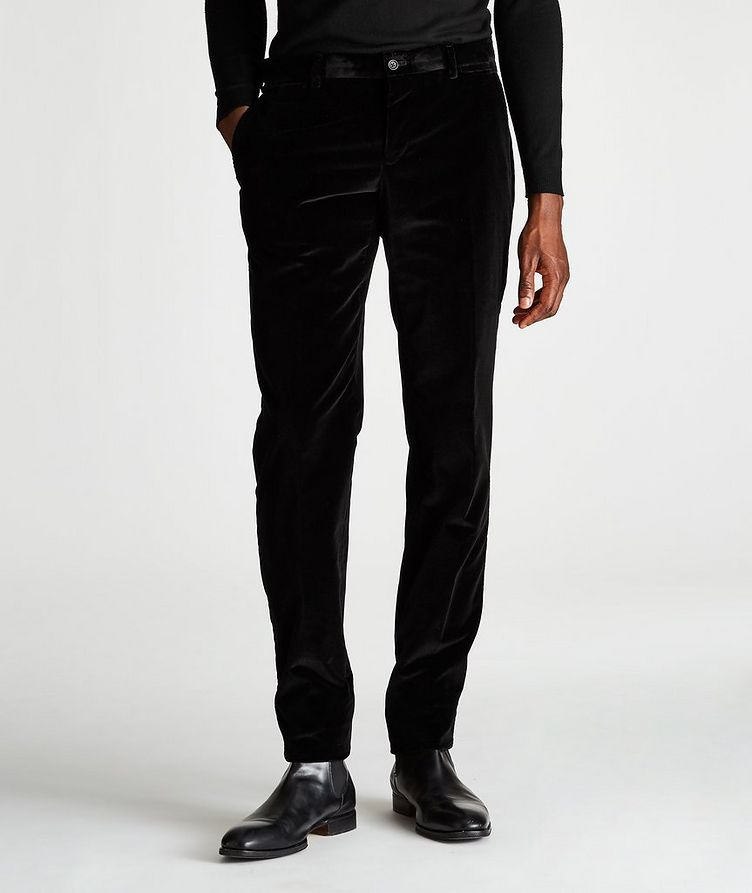 Slim-Fit Velvet Trousers image 0