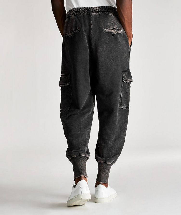 Acid Wash Cotton Cargo Joggers image 1