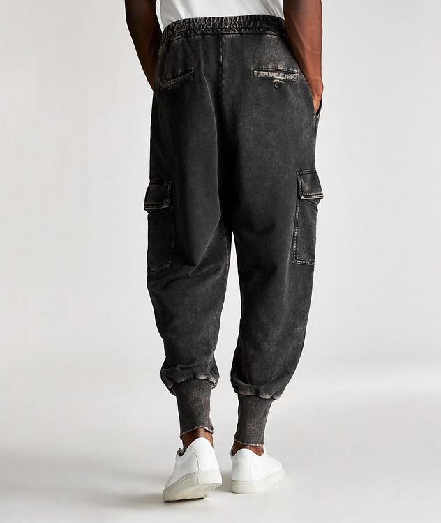 Acid Wash Cotton Cargo Joggers picture 2