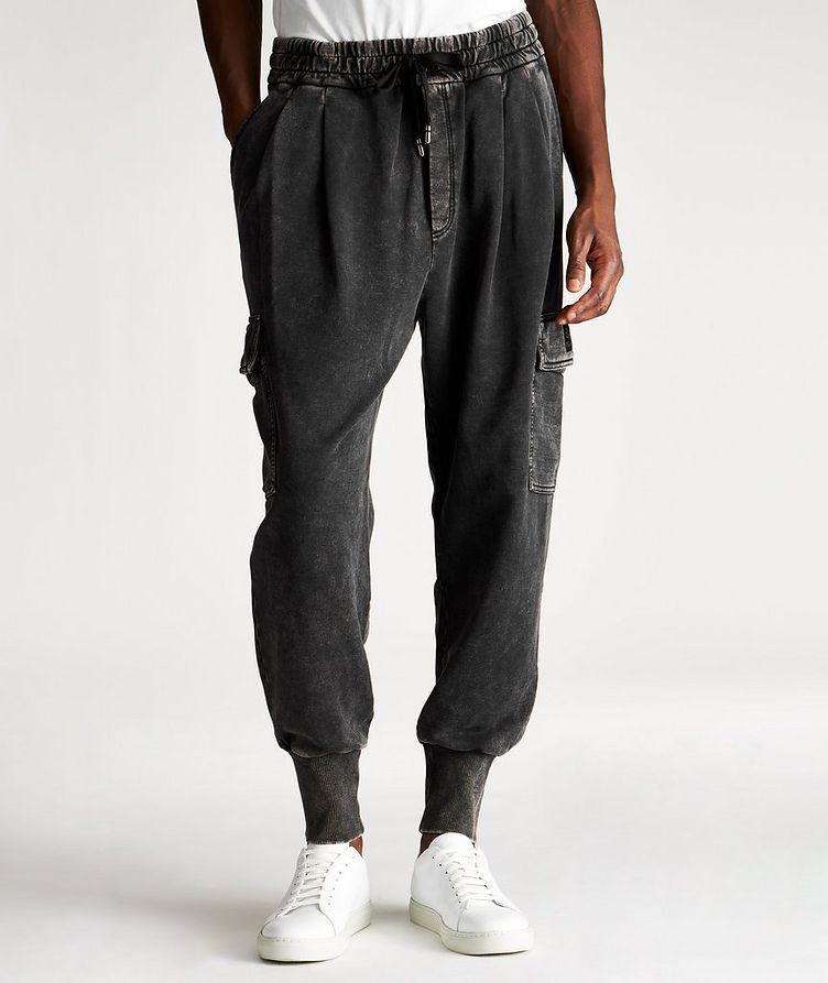 Acid Wash Cotton Cargo Joggers image 0