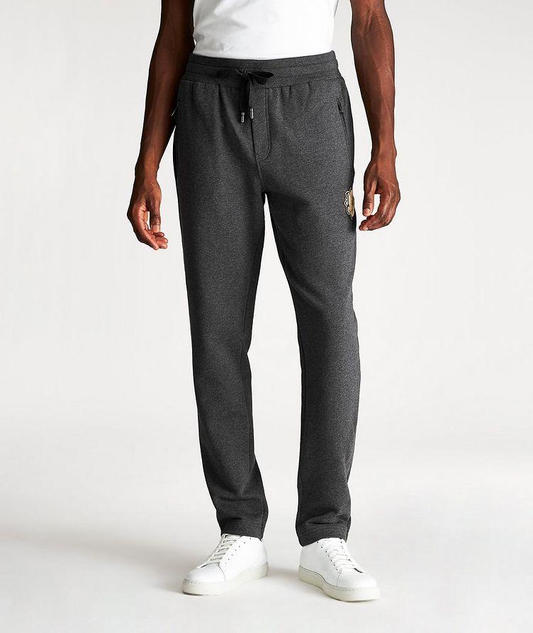 Pantalon sport en coton avec logo image 0