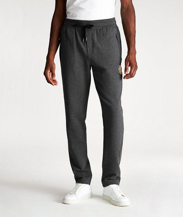 Pantalon sport en coton avec logo picture 1