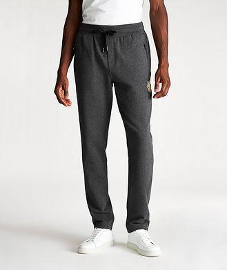 Dolce & Gabbana Pantalon sport en coton avec logo