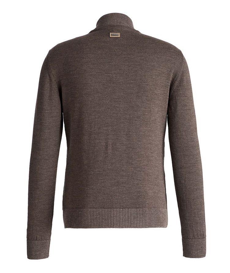 Lambskin and Wool Zip-Up Sweater image 1