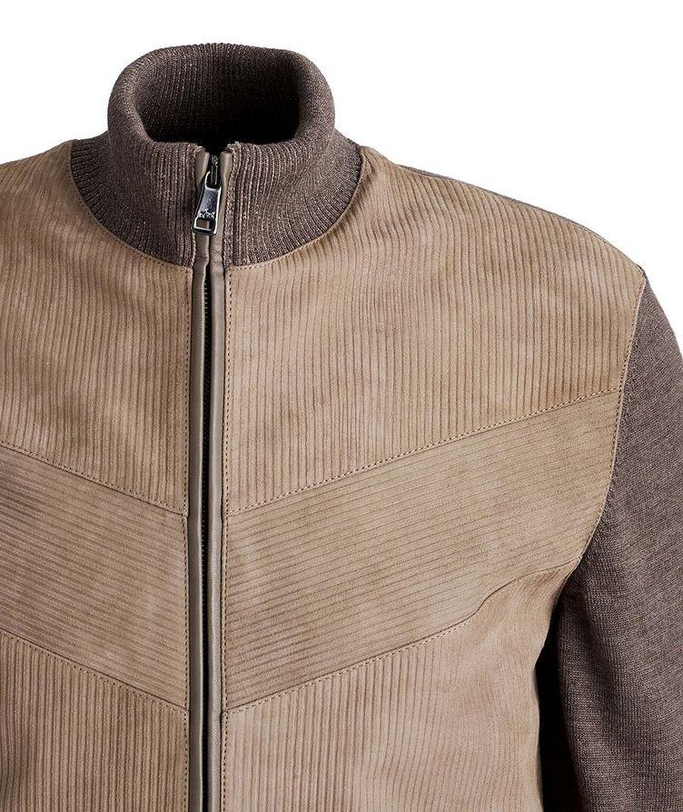 Lambskin and Wool Zip-Up Sweater image 2