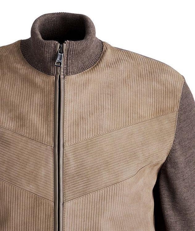 Lambskin and Wool Zip-Up Sweater picture 3