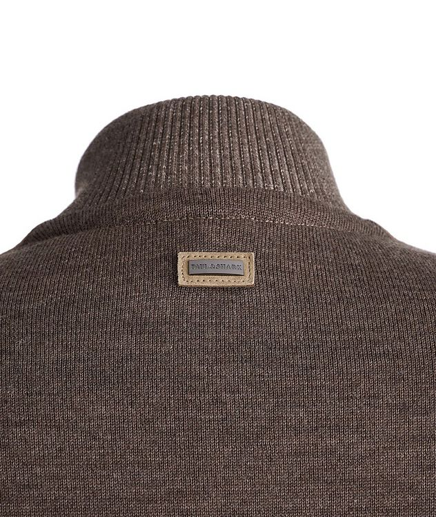 Lambskin and Wool Zip-Up Sweater picture 4