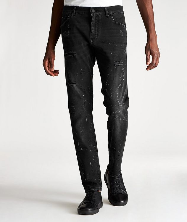 Slim Fit Distressed Jeans picture 1