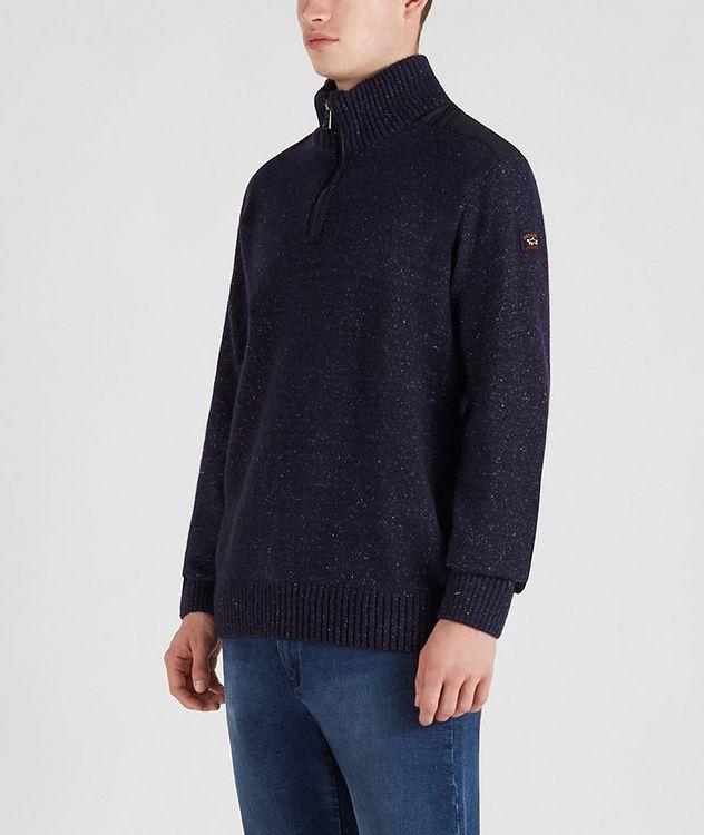 Half-Zip Wool-Down Sweater picture 2