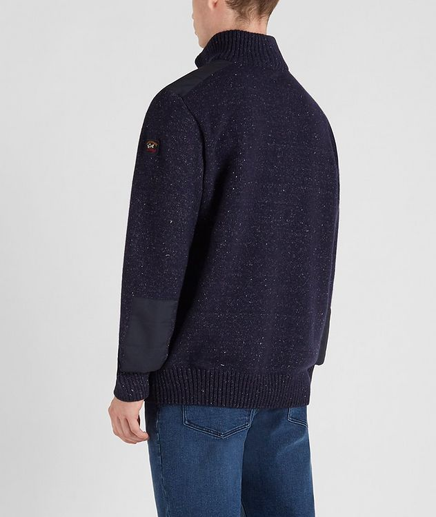 Half-Zip Wool-Down Sweater picture 3