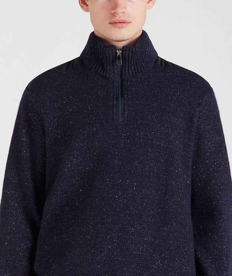 Half-Zip Wool-Down Sweater image 4