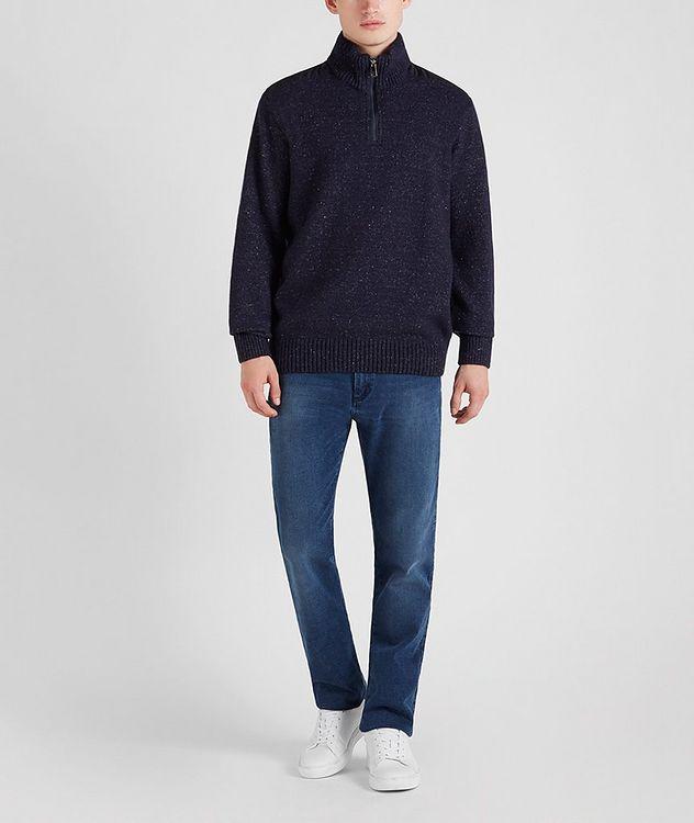 Half-Zip Wool-Down Sweater picture 6