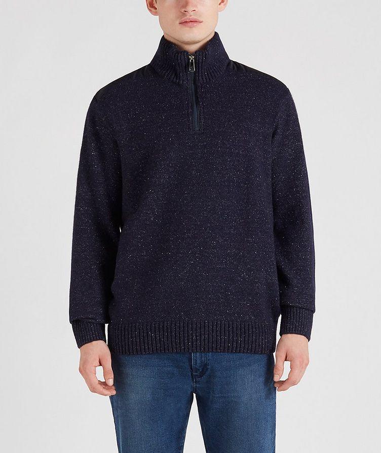 Half-Zip Wool-Down Sweater image 0