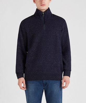 Paul & Shark Half-Zip Wool-Down Sweater