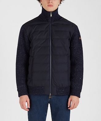 Paul & Shark Typhoon 20000 Zip-Up Quilted-Knit Sweater