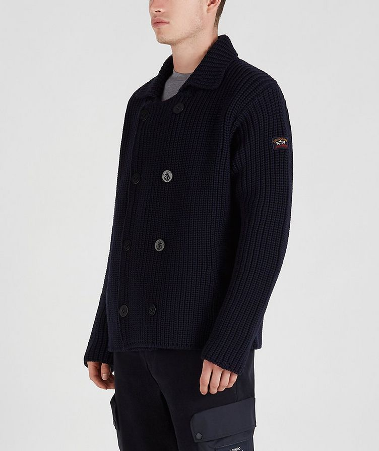 Double-Breasted Cable-Knit Cardigan image 1