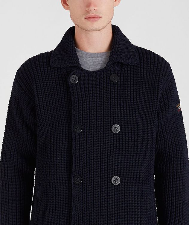 Double-Breasted Cable-Knit Cardigan picture 4