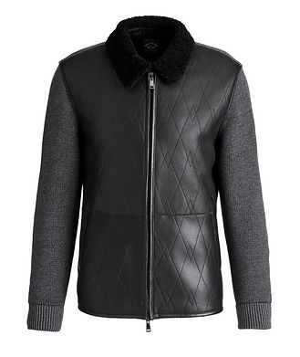 Paul & Shark Lambskin and Wool Zip-Up Sweater
