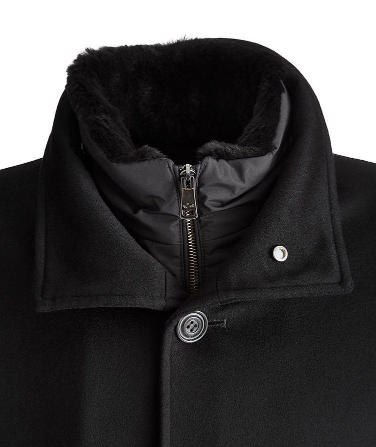Cashmere Fur Collar Rain System Overcoat image 2