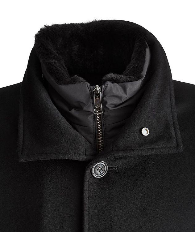 Cashmere Fur Collar Rain System Overcoat picture 3
