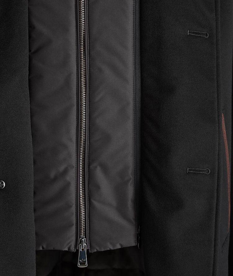 Cashmere Fur Collar Rain System Overcoat image 3