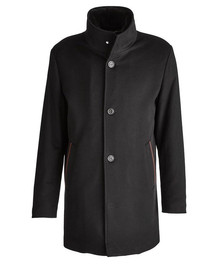 Cashmere Fur Collar Rain System Overcoat image 0