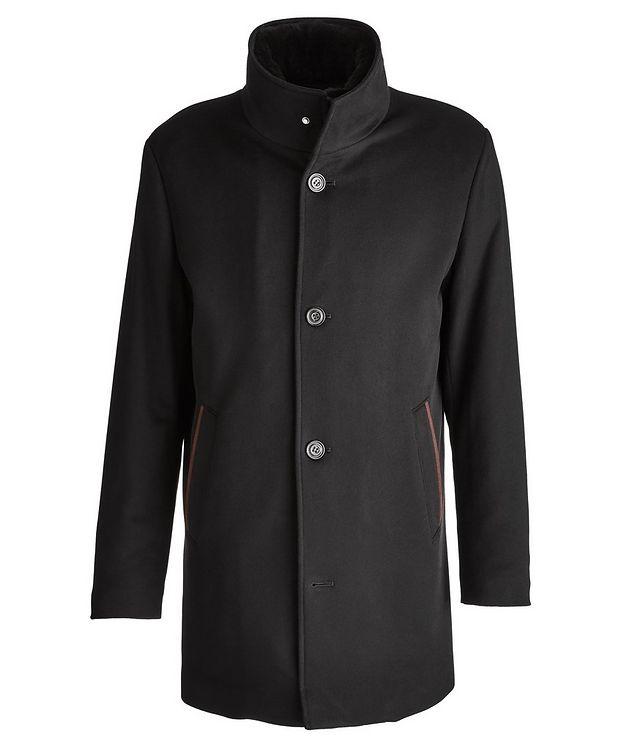 Cashmere Fur Collar Rain System Overcoat picture 1