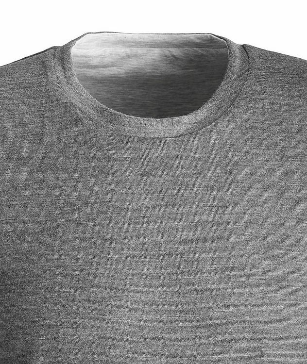 Round Reve Reversible Wool-Cotton Long Sleeve T-Shirt picture 2