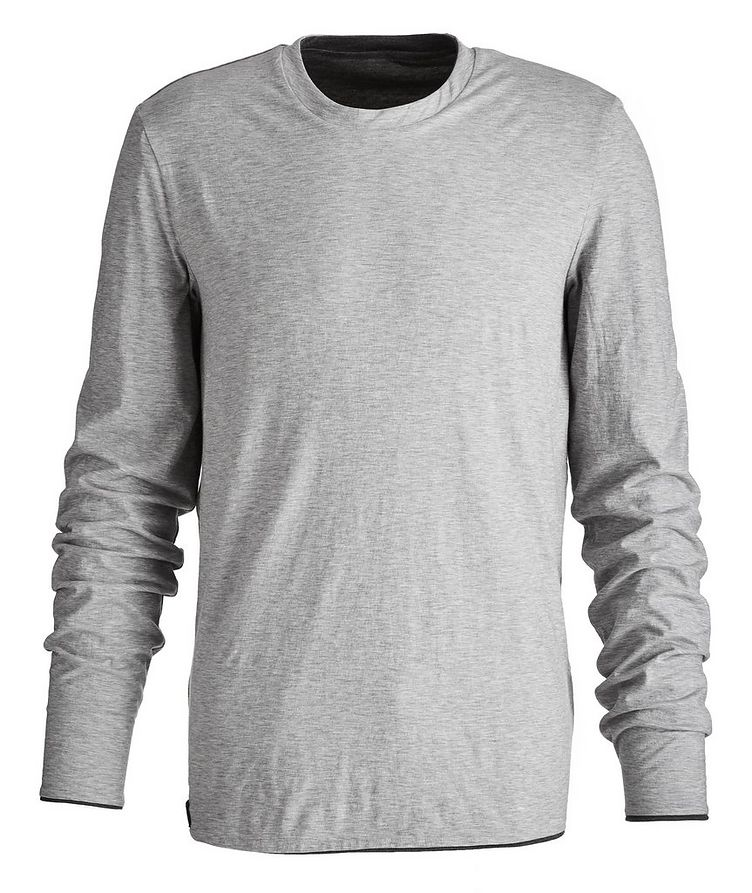 Round Reve Reversible Wool-Cotton Long Sleeve T-Shirt image 2
