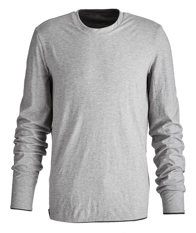 Round Reve Reversible Wool-Cotton Long Sleeve T-Shirt picture 3