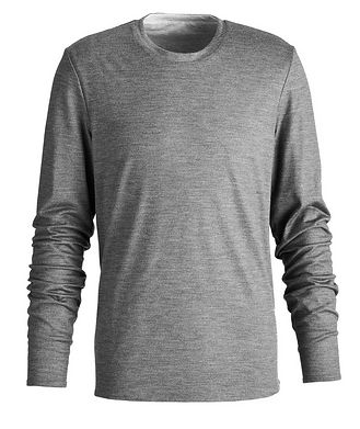 SEASE Round Reve Reversible Wool-Cotton Long Sleeve T-Shirt