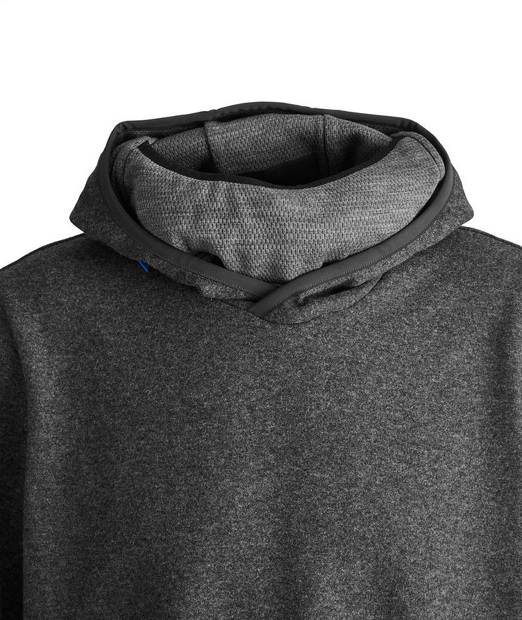 Drone Wool-Cashmere Blend Face Mask Hoodie image 1