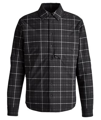 SEASE Gate Padded Windowpane Check Shirt Jacket