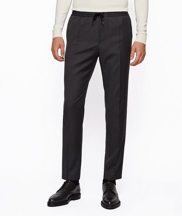 Banks Slim-Fit Drawstring Trousers picture 2