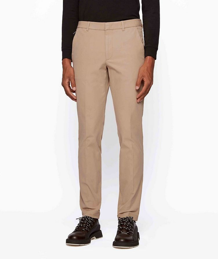 Slim Fit Travel Stretch-Twill Pants image 1