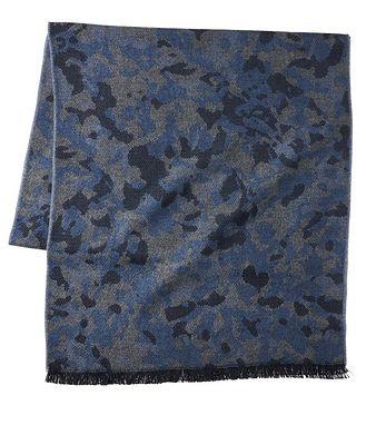 Harry Rosen Camouflage Acrylic-Wool Scarf