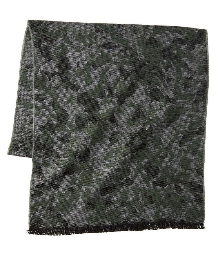 Camouflage Acrylic-Wool Scarf image 0