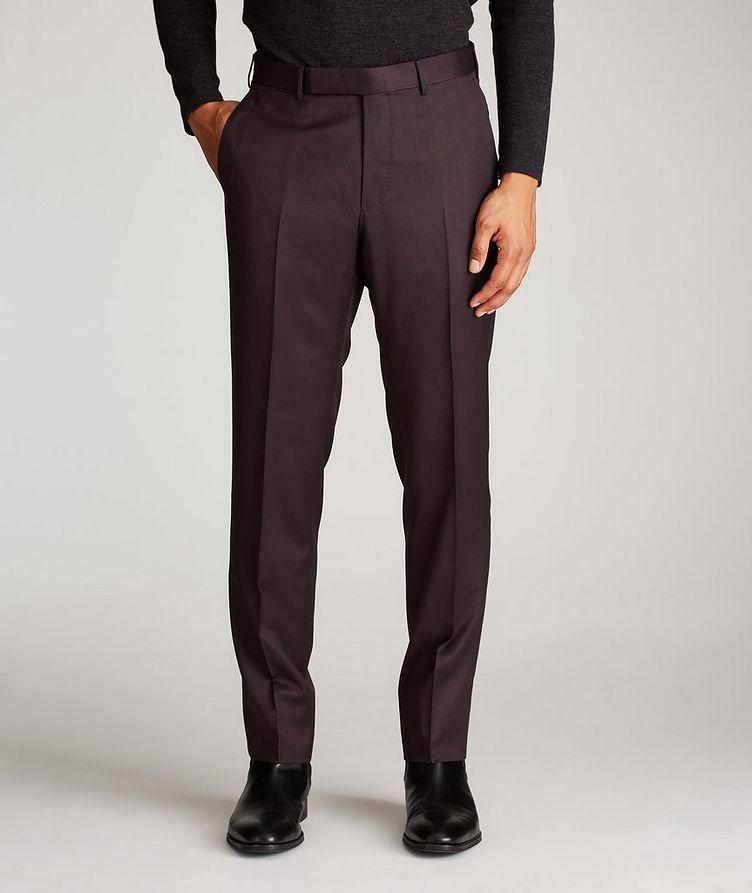 Slim Fit Wool-Silk Dress Pants image 1