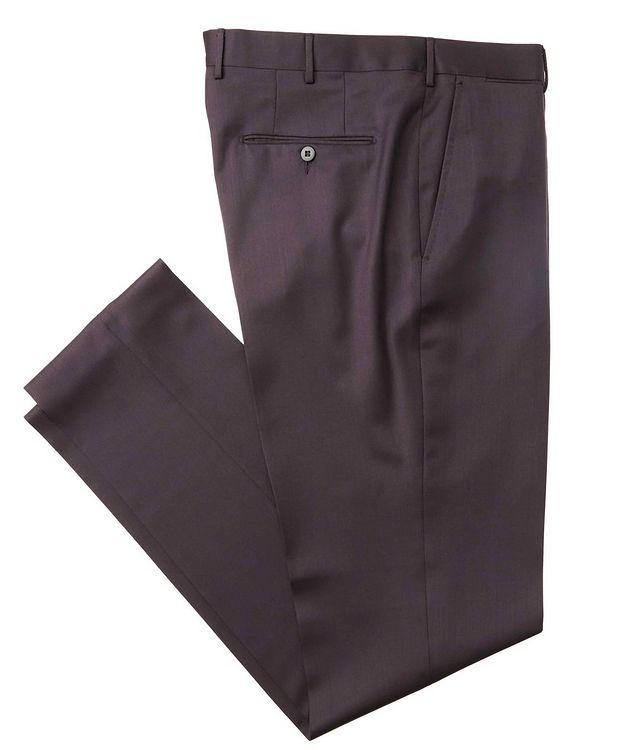 Slim Fit Wool-Silk Dress Pants picture 1