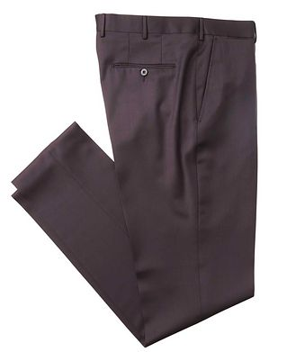 Ermenegildo Zegna Slim Fit Wool-Silk Dress Pants