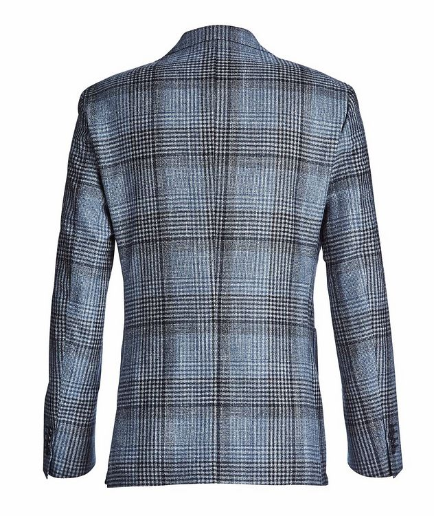 Checked Wool, Silk, and Cashmere Sports Jacket picture 2
