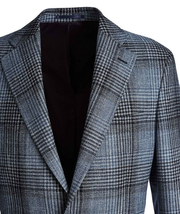 Checked Wool, Silk, and Cashmere Sports Jacket picture 3